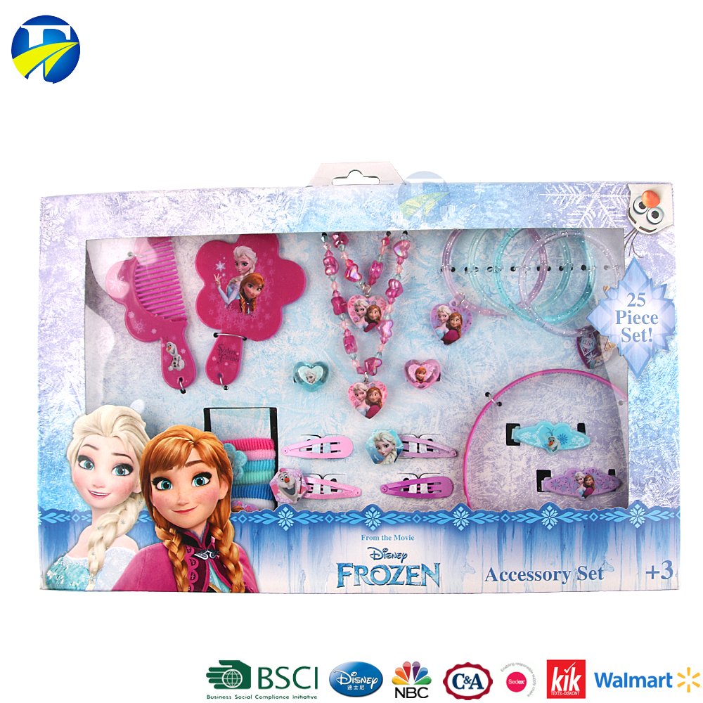 FJ brand 2017 gifts for kids baby frozen hair accessories jewelry set promotional gift