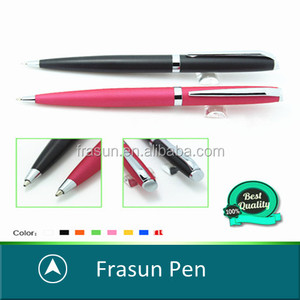Custom color paint brass barrel metal ballpoint pen for promotion