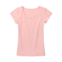 Online shipping plain high quality 100% organic cotton jersey fabric soft and slim fit for women custom no label t shirt