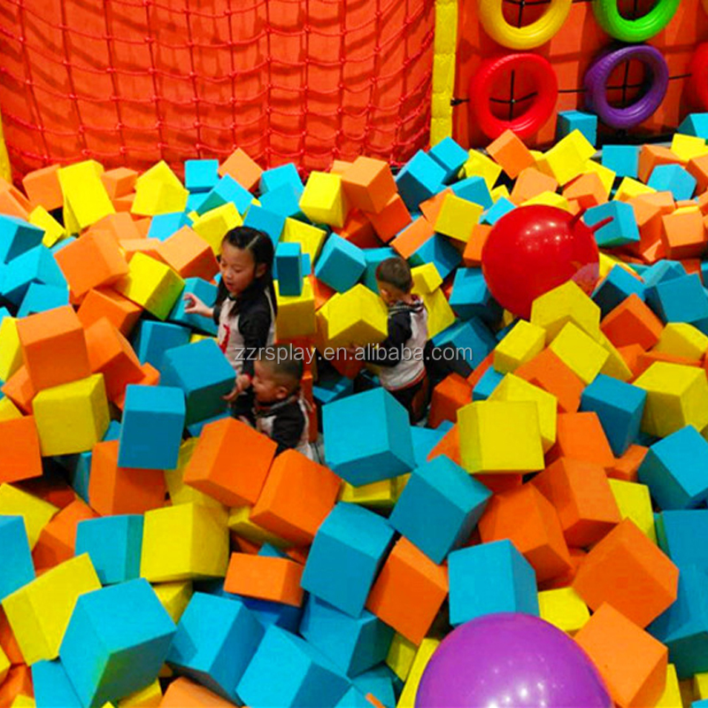 children entertainment indoor trampoline park soft foam play