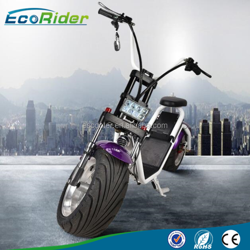 OEM disc Brake 18inch big 2 Wheel Electric Scooter Bike with Led Turning Lights
