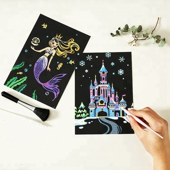 Novel Christmas Greeting Cards Diy Scratch Art Picture For Kids Buy Scratch Art Picture Easy Pictures To Draw For Kids Christmas Greeting Cards