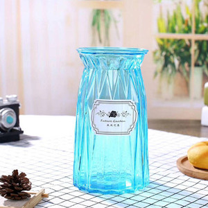 wholesale price fancy design flower glass vase for home decoration