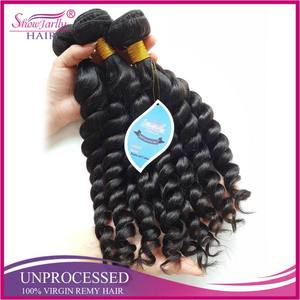 Brazilian virgin unprocessed hair weft 100% human hair braid hair piece new type mambo twist 3 bundles top quality extension
