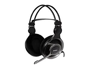 d18b92a30be Get Quotations · A4tech HS-100 Stereo Gaming Headset Office Headphone with Aux  Mic Split