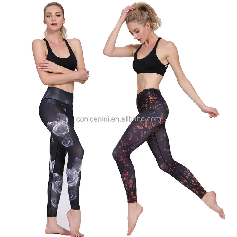 Color grid splicing yoga fitness sport leggings absorbent tight women pants