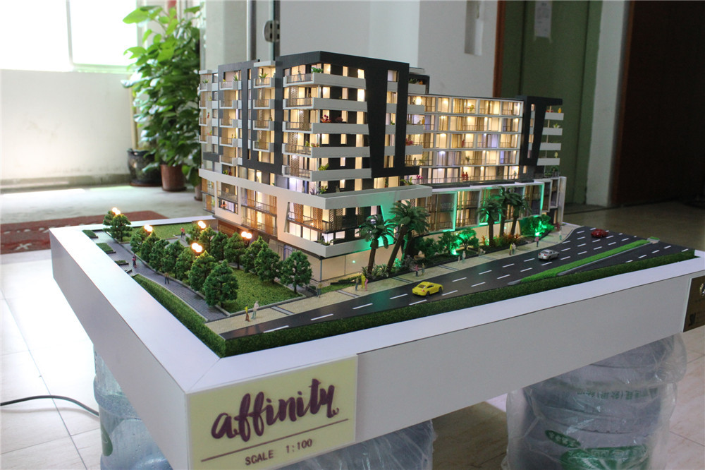 Acrylic plastic miniature house building models beautiful for 3d house model maker