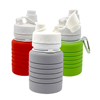 FDA food grade silicone BPA free eco leakproof foldable travel outdoor indoor collapsible silicone outdoor sports water bottle