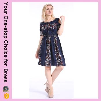 Plus Size Ladies Modern Off Shoulder Waist Design Fancy Floral