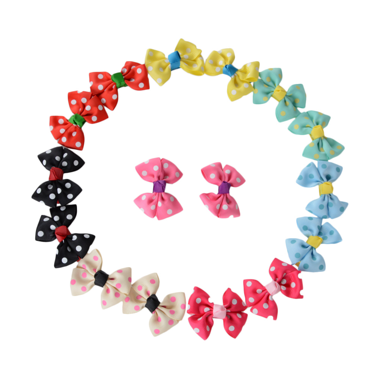 T 065 Girls fashion hair accessories hair bow with metal clip