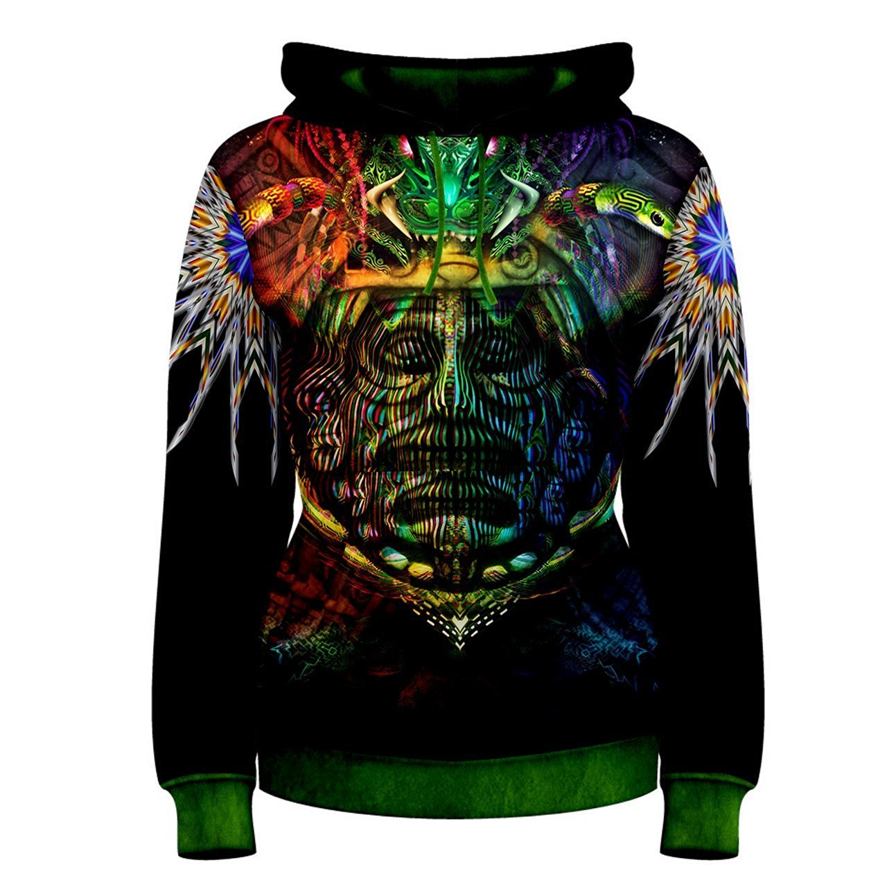 22f1546a Get Quotations · Ancient Aztec Trippy Hippie Psychedelic Custom Full 3D  Print Women Hoodie Sweaters
