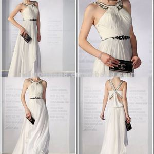 NN-129 Aztec white goddess eveving dress/party gown