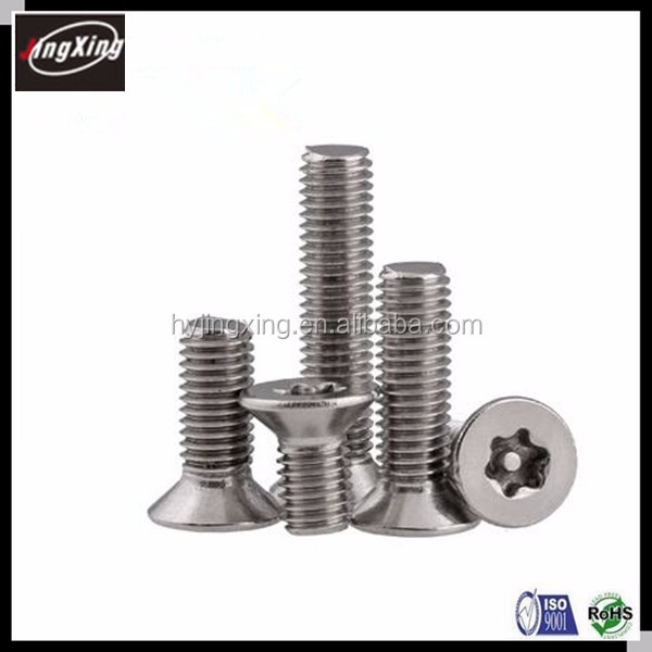 fastener socket T6 M6 M8  stainless steel  oval pan button round head six lobe anti theft  tamper proof torx pin security screw