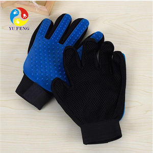 Pet Grooming Glove - Gentle Deshedding Brush Glove - Efficient Pet Hair Remover Glove