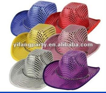 Colorful Big Sequin Cowboy Party Hats - Buy Sequined Cowboy Party  Hats 5d999252ffd
