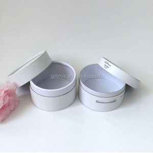 factory price customized wireless charging machine packaging white cardboard cylinder round box with logo printing
