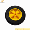6x1.5 inch plastic hub solid rubber hand trolley wheels