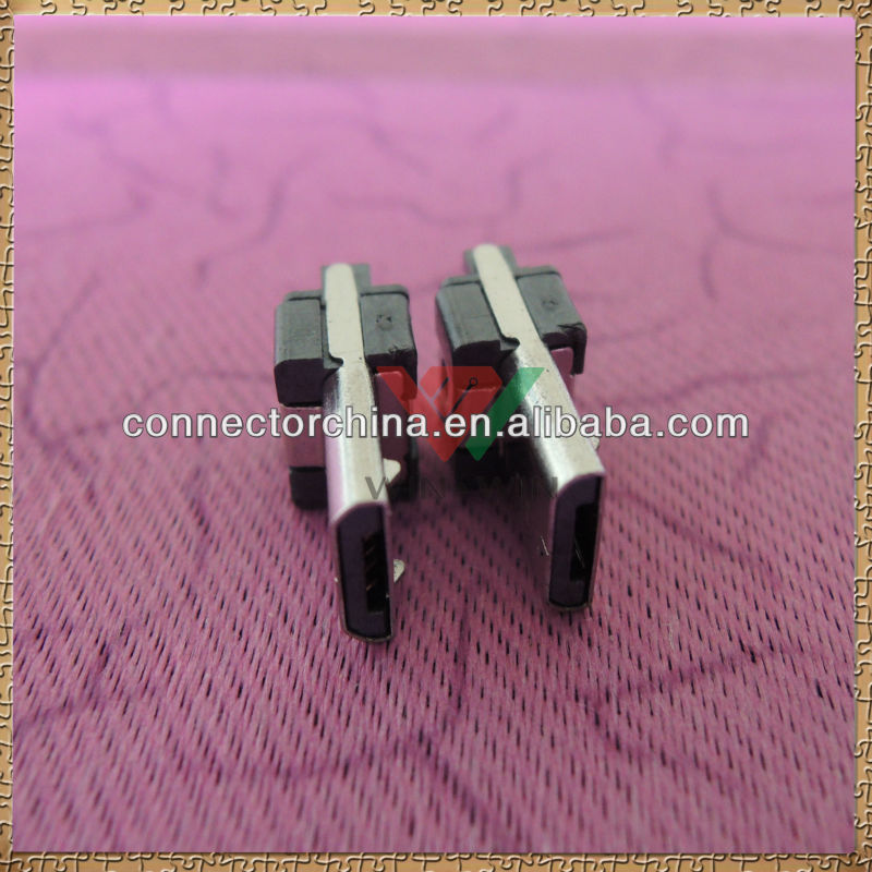 Universal Soldering type Female 12 pin mini usb connector