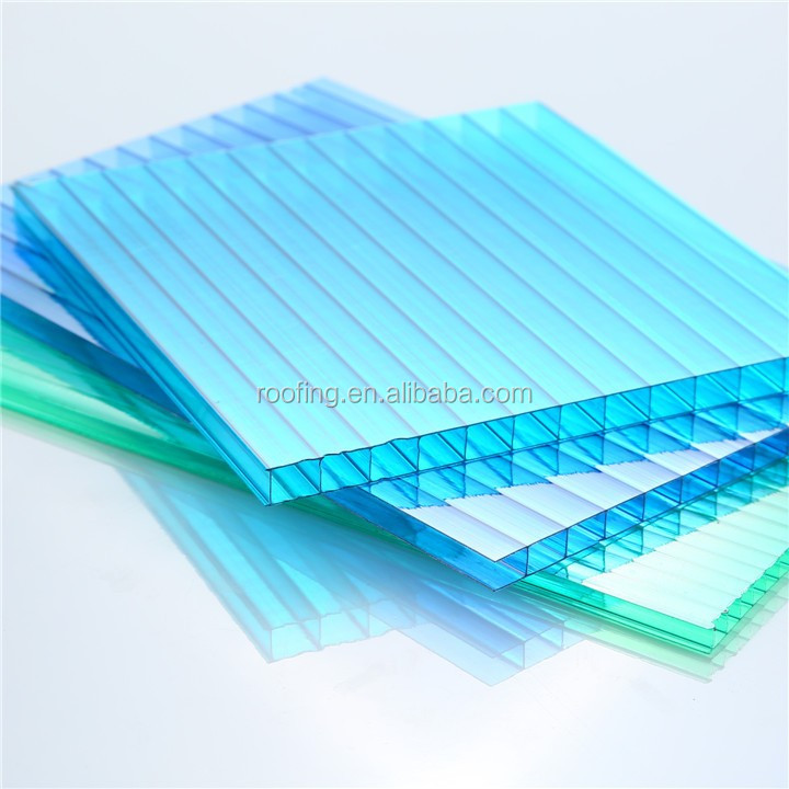 100% Vrigin Pc materials 6MM long span Multiwall polycarbonate Sheet for Agricultural greenhouse
