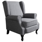Contemporary High Wingback Fabric Push Back Recliner Chair for Living Room