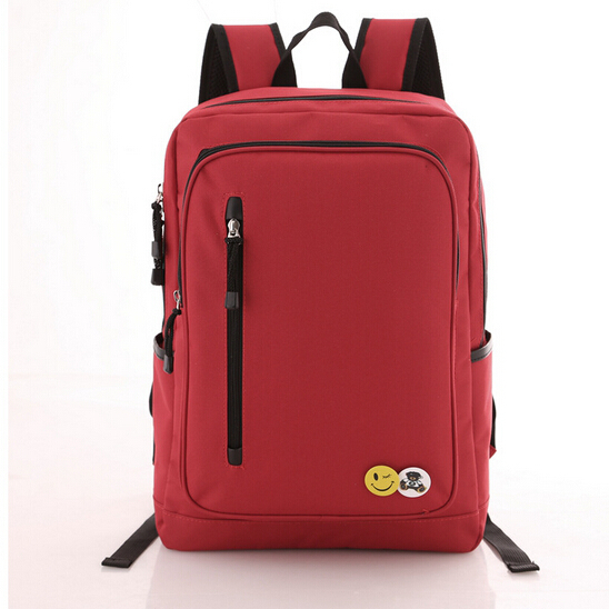 LMY7233 Superb of you fashion woman backpack 2015 nylon Pure color smiley school bag military laptop large capacity backpack