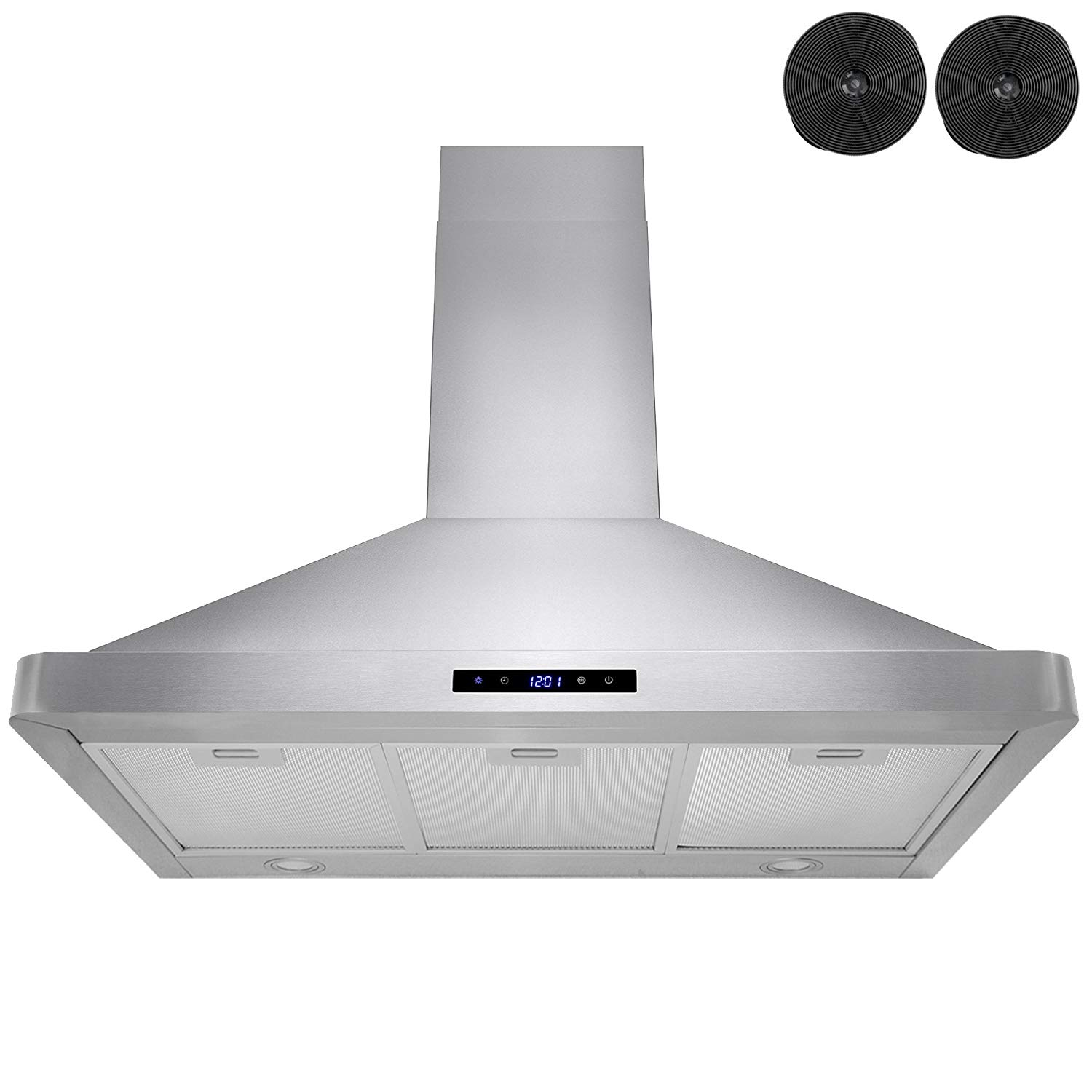 """FIREBIRD 36"""" Wall-mounted Stainless Steel Range Hood with Touch Screen Control Panel, Charcoal Filters / Carbon Filters Included! High-end LED Lights"""