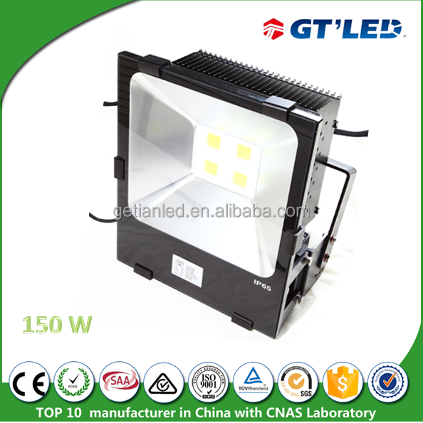 Super bright 16500lm leds flood lights for sale IP65 led outdoor wall light 150W aluminium led lamp