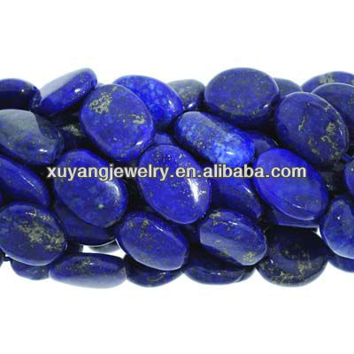 10 x 14mm Lapis oval beads (AB1342)