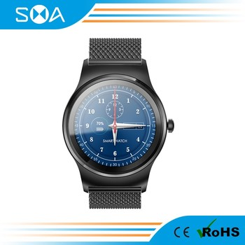 Hot Selling Luxury Round Screen Android Smart Watch D5+ with Leather Bnad