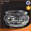 Hot sale high quality round clear glass candle holder with nice emboss