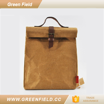 Disposable Lunch Bag Tote Washable Kraft Paper Clutch Box