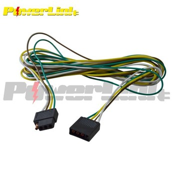 h70096 8' split trailer wiring harness with flat 4 ... split 4 pin trailer wire harness 8 pin trailer wire harness parts #15