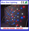 6m x 4m Black RGB star cloth stage light RGB 3in1 SMD led curtain