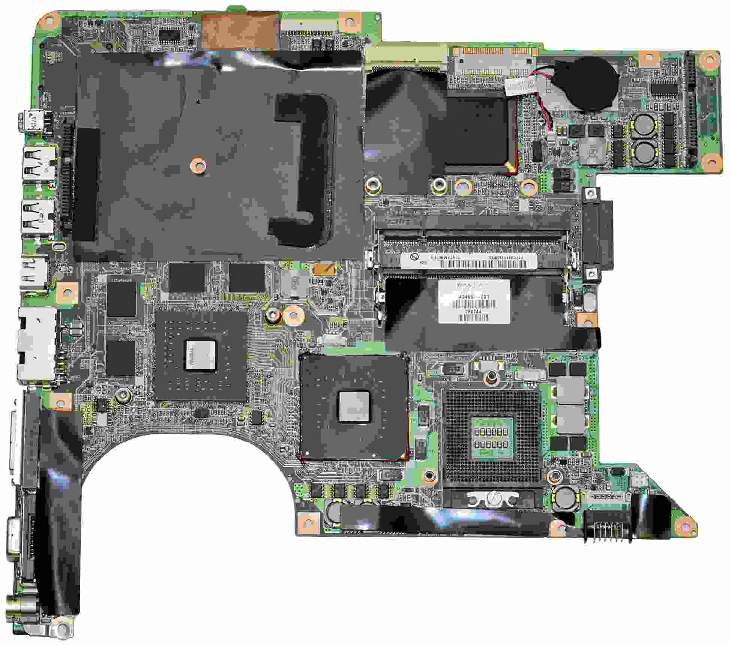Great Value Laptop Motherboards Laptop Motherboard for HP DV9000 434660-001 Inter PM GF-G07600-H-N-B1 Green
