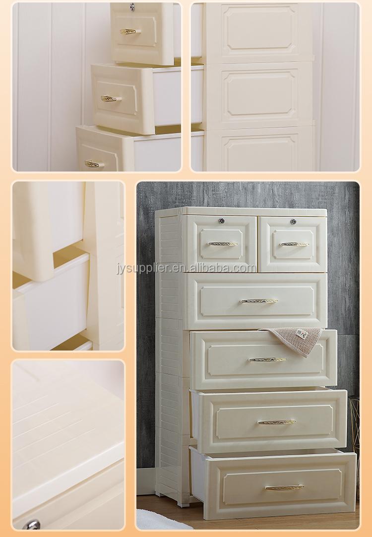 5 capas 5825C/5815C estilo europeo sala de estar y dormitorio cajones de almacenamiento de plástico