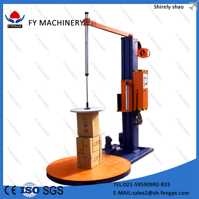 China manufacturer top pressure pallet stretch wrapping film machine for making wood pallet