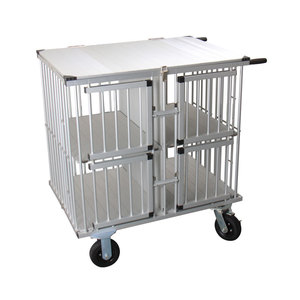 Foldable Aluminium Dog Carrier Kennel Cage Pet Transport Car Cages