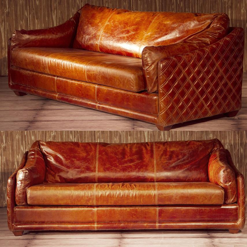 Handmade Leather Sofa: Handmade Vintage Distressed Italian Leather Sofas