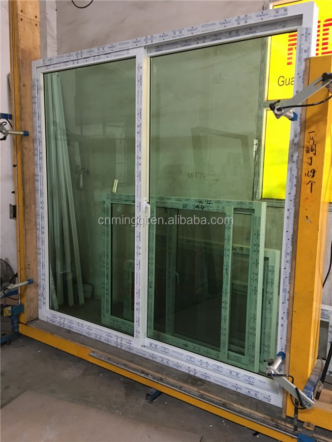 Double Pane Green Color Tempered Glass Pvc Sliding Door Philippines