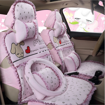 ZT-M-049 All-inclusive car seat cover winter plush cushion cute cartoon female
