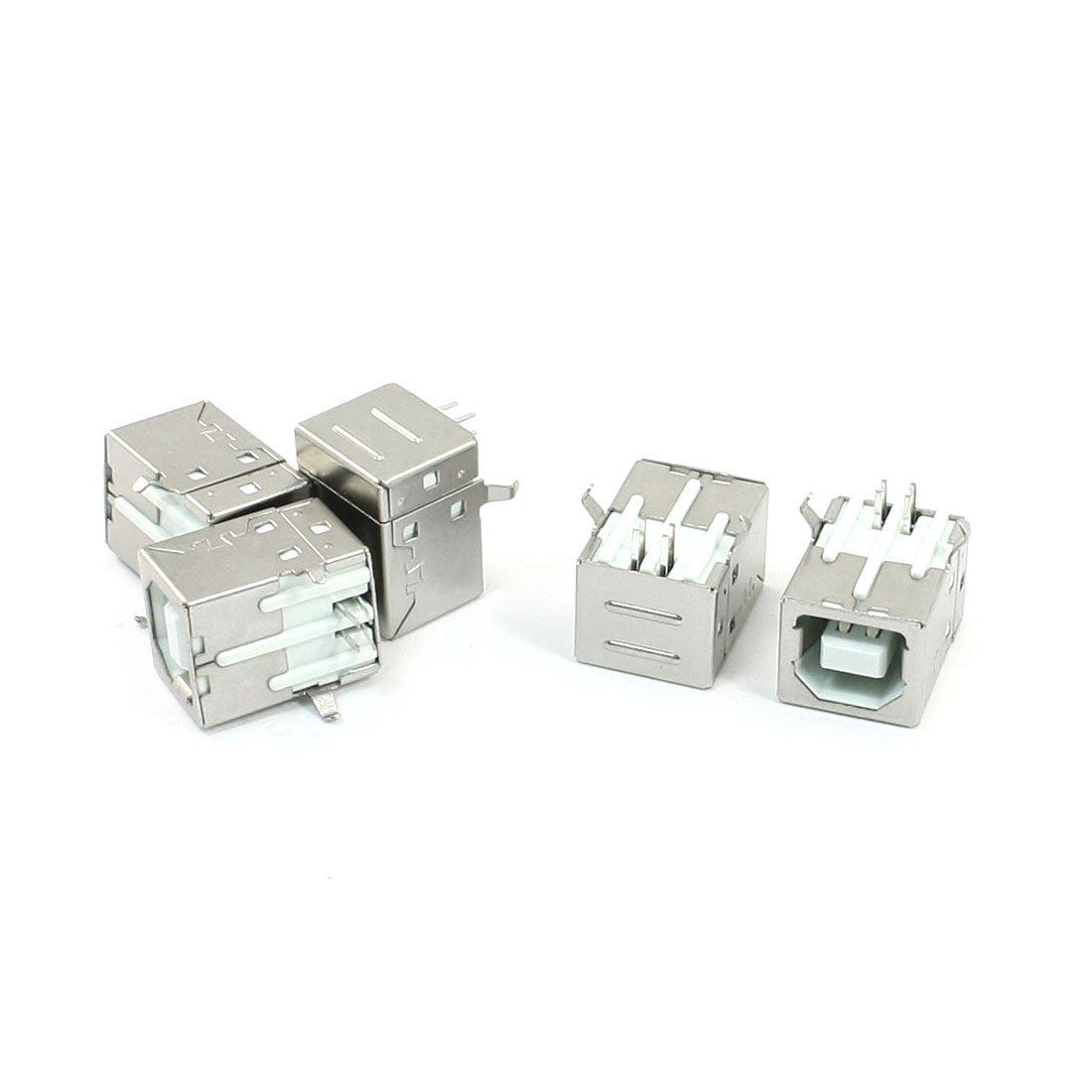 uxcell/® 10pcs USB 2.0 Type B Socket Jack 4 Pins 180 Degree Female Connector