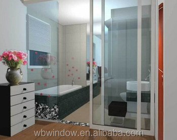 Pvc Upvc Bathroom Sliding Glass Door Simple Design Plastic Toilet