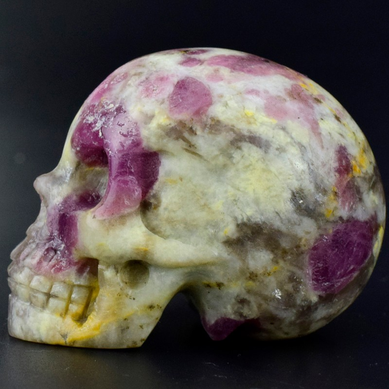 Very hot, new arrive 2 inch Lepidolite natural hand carved stone skull
