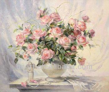 Bella Rosa Fiori Dipinti Ad Olio Su Tela - Buy Fiore Di Rosa,Rosa ...