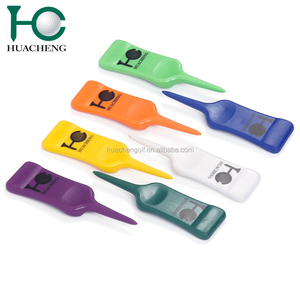 Customized new single prong plastic golf divot repair tool for wholesale