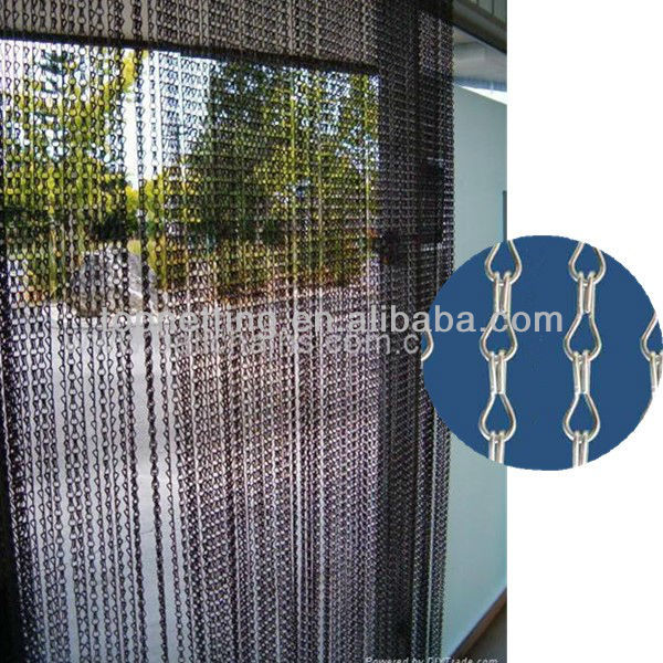 Attractive Metal Chian Link Curtain Auminum /fly Screen Door Curtain