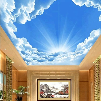 China Cheap Customized 3d Design Sky Ceiling Wall Mural Wallpaper Buy 3d Design Sky Ceiling Wall Mural Wallpaper Living Room Ceiling Mural