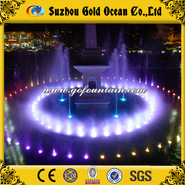 Unique design dancing water show music fountain with music and led light