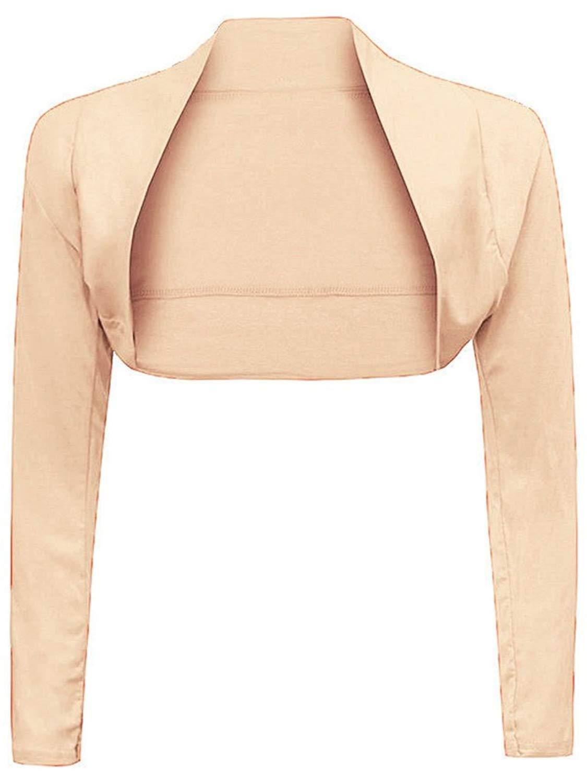 YLnini Womens Solid Basic Short Sleeve Bolero Shrug Knit Cardigan