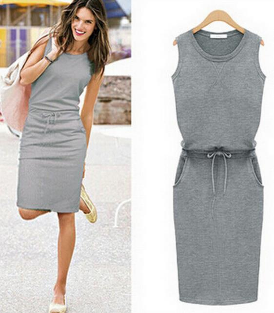 Latest fashion women clothing sleeveless cotton <strong>dresses</strong> ladies western casual <strong>dress</strong>
